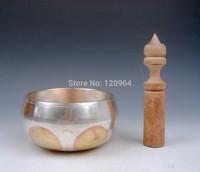 Tibetan Copper Gold Gilt Chakra Large Singing Bowl Meditation Gongs Antique Copper Bronze Bowls