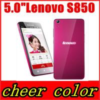 "Original Lenovo S850 Phone MTK6582 Android 4.4 Quad Core Mobile Phone 5.0"" IPS 720P Screen 5.0MP 13.0MP 16G ROM 3G GPS WIFI"