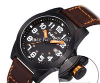2015 Sale Watch Men Men Quartz Watch Tritium Light Luminous Waterproof 5atm Calendar Leather Strap Military Sports Fashion New