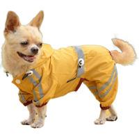 Pet Raincoat Puppy PVC Single-deck Raincoat Reflective Tape Reflective Safety  Waterproof Clothes