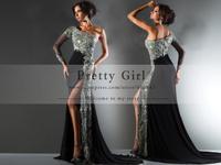 vestidos de fiesta 2014 luxury crystal beaded boutique dress one full long sleeves elegant long mermaid prom dress party dress