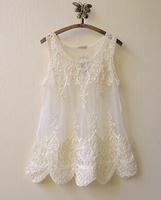 Mori Girl Lace Embroidery Floral Crochet Vest Body Babado Sexy Hollow-Out  Camisetas Moleton Roupas Femininas Blusas Renda