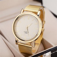Free shipping! Gold color modern concise men quartz watch, Trendy casual women dress watches, Best gift!