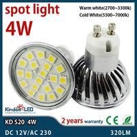High Quality Aluminum shell E27 GU10 LED Spotlight 4W 5050 Cold/Warm white LED Bulb lamps bombillas led e27 Free Shipping