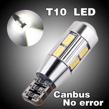 2pcs led t10 canbus,10 led SIGNAL BULB SMD5630 LENS FREE ERROR ,Auto Indicator 168 501 LED BULB,CANBUS W5W (China (Mainland))