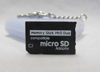 10PCS Memory Stick Pro Duo Adapter MicroSD MicroSDHC to memory stick pro duo card adaptor ms adapter