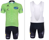 Breathable 2014 Green Tour De France Professional Team Monton Bike Clothing Cycling Jersey Short Sleeve and bib Shorts