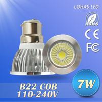 100PCS  Free shipping  7W/10W15W  Cold white/warm white B22  110-240V  LED LAMP 120 degree LED ceiling light