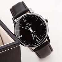 Free shipping! Luxury concise fashion men wristwatches, Trendy leather quartz watch for women, Fashion jeweley