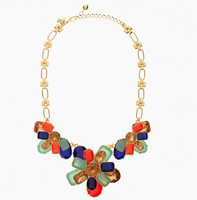 Free Shipping / K-S-J / RIVIERA GARDEN graduated statement necklace