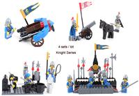 Enlighten Building Blocks Toys Knights Series 4 Sets/lot Educational Construction Toys for Children Compatible Bricks