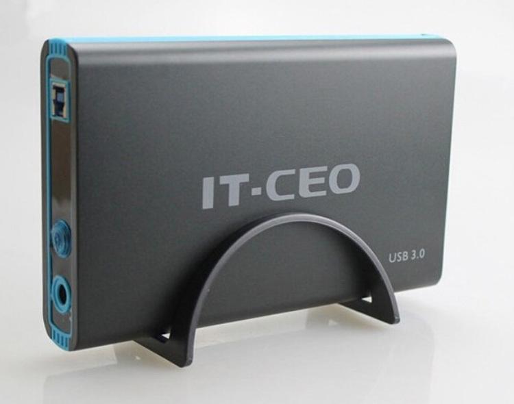 Nouveau! It-ceo 3.5 pouces. usb 3.0 interface sata de disque dur hdd externe hd boîte/Étui 3tb libre. expédition de baisse