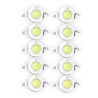 Lot of 50 1W Cool White High Power Super Bright LED Light 1 Watt Lamp Bulb Chip