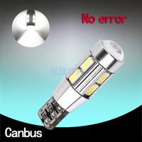 2pcs led t10 canbus,SIGNAL BULBSMD5630 LENS FREE ERROR ,,Auto Indicator  168 501 LED BULB,CANBUS W5W 194/501