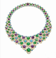 Derongems_Fine Jewelry_Luxury Emerald Stone Wedding/Party Collar Necklaces_S925 Solid Silver Necklace_Manufacturer Directly Sale