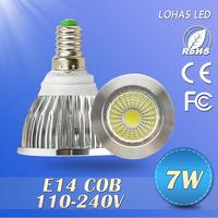 100X led spotlight Lowest Price E14  7w/10w/15w non- Dimmable Spotlight Led Light 110V-240V Led Lamp Bulb downlight