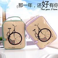 Backpack female bicycle print pattern casual backpack school bag fashional rucksacks backpacks free shipping