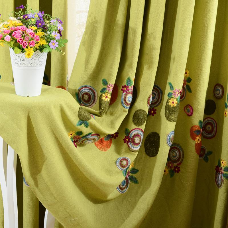 anne caldwell qualidade fluida cortina bordada pano janela cortina cortina quarto produto acabado seleção da janela(China (Mainland))