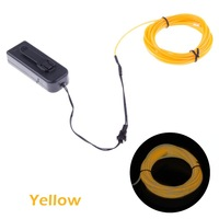 Bloomwin EL Wire 5M/16Ft Yellow Waterproof  EL Tape  PVC Luminescent Neon Tube Perfect for  Decoration Indoor or Outdoor