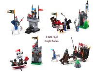 Enlighten Building Blocks Toys Knights Series 1015-1018 Educational Construction Toys for Children Compatible Bricks