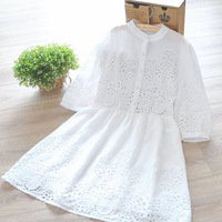 mori girl spring white cotton preto cute princess half sleeve body babado embroidery lace winter dress vestidos longos desigual