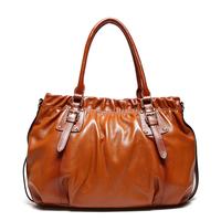 Handbag guaranteed 100% genuine leather bags women leather handbags fashion 2015 designers brand bag lady tote shoulder bag 8026