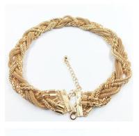 YXSP318       2014 new fashion   Brand fashion simple twist braid    necklace for women
