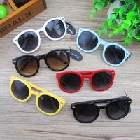 Fashion Kids Sunglasses Rivet Arrow Circular frame Sun-shading Eyeglasses Tide boys and girls Sunglass Drop Shipping 10pcs/lot