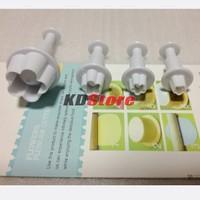 30set/lot 4pcs/set  Plum Flower Plunger Cutter Mold Sugar craft Fondant Cake Mould Decorating DIY Kitchen Tool #BK028 @CF