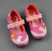 Hot! Girl's Peppa pig sneakers, George Pig girls sports Casual shoes Sneakers, Girl's peppa pig shoes, Retail, 1 pair