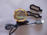 Bike Bicycle Golden bezel headCree Xlamp XM-L2 LED 1000 Lumens head USB for camping Front light lamp