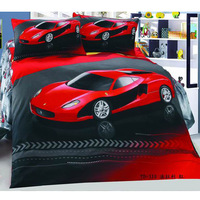 Fashion cars 3pcs Bedding Set Cartoon Cotton children Kid Bedding Free Shipping
