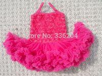 Little Girls Lace Dress, Flower Girl Tulle Dress, Baby Girls Birthday Dress Rosette Ballerina Petti Dress
