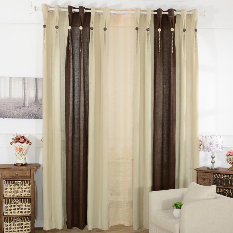 moderna breve anne caldwell fluido patchwork sala cortina cortina de tecido produto acabado(China (Mainland))