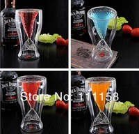 NEW 75PCS DHL Free Shipping Mermaid Glass Wine Cup Shark Beer Novelty Mug Cup Drinking Milk Glass Cup Fruit Juice Cup