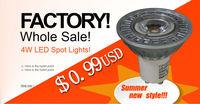 At a loss/ At ten percent  processing/ LED spotlight Epistar 4W  GU10 lamps /downlights source Warm White 10 pieces /lot