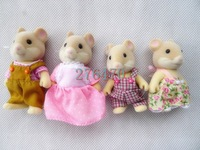Sylvanian Families Mouse Family 4pcs Parents & Kids Set New without Box