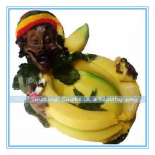 AT009- Unique design reggae style banana shape cigarette ash trays(China (Mainland))