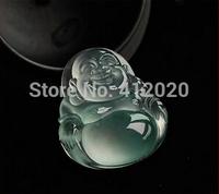 Natural Ice Buddha Lucky Pendant Rare Tibet Ice Jade Lucky Buddha Head Pendant
