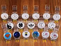 2014 New boys and girls transparent seven ulzzang Korea watch jelly wristwatch+21 colors 50pcs/lot
