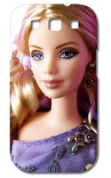wholesale 50% off!! 2014 new arrival HOT new design 1pcs Barbie doll designs luxury White hard case cover for samsung s3/9300