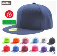 Free shipping summer new European DIY solid light board skateboard flat brimmed hat \ Hip blank baseball cap