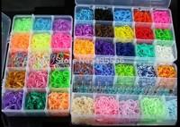14000 Colourful Rubber Loom Bands Bracelet DIY Making Kit Children Craft