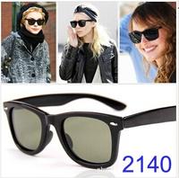 2014 sunglasses men  New sunglasses women brand designer gafas 2140 with famous logo eyewear oculos