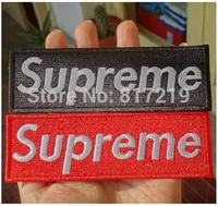 iron on patch patchs supreme Applique Badge (10pcs a lot) badges good quality red/black 12*4cm