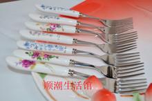 Tableware, stainless steel fork, ceramic knife fork, western-style forks, fruit fork(China (Mainland))