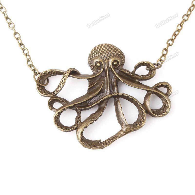 Cute Octopus Logo Bronze Cute Octopus Long