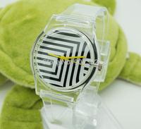 2014 new watch Wristwatches Striped Print   fashion watch women dress watches quartz watch + free shipping
