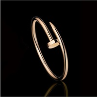 new nail bangle stainless steel top quality 2 colors bracelet bangle for women   SL-030