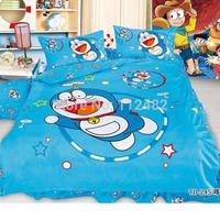 Doraemon Blue 3pcs Bedding Set Cartoon Cotton children Kid Bedding Free Shipping